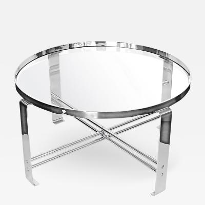 Wolfgang Hoffmann Large Chrome Coffee Table by Wolfgang Hoffmann for Howell Furniture Co