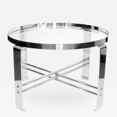 Wolfgang Hoffmann Streamline Cocktail Table by Wolfgang Hoffmann in Polished Chrome