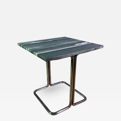 Wolfgang Hoffmann Wolfgang Hoffman 1930s Tubular Chrome Marble Table