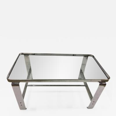 Wolfgang Hoffmann Wolfgang Hoffmann Coffee Table with Glass Shelves c 1930