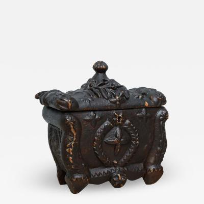 Wonderful Scottish Folk Art Tea Caddy