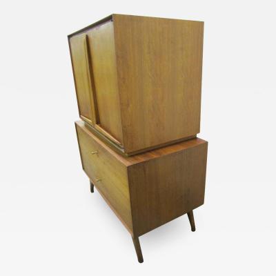 Wonderful Sculptural Walnut Tall Dresser Mid Century Modern