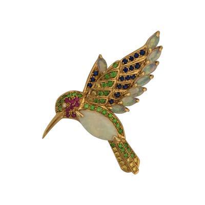 Wonderful hummingbird brooch