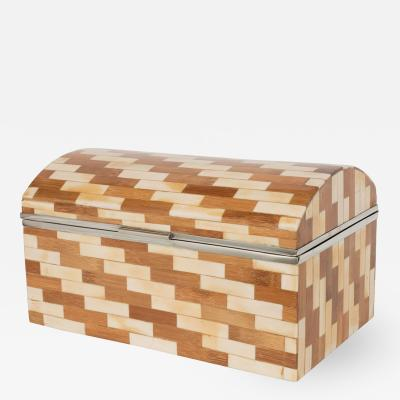 Wood Box with Parquetry Design