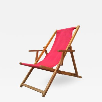 Wood deckchair 1950s