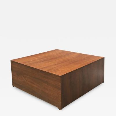 Wood parallelepiped pedestal 1970s