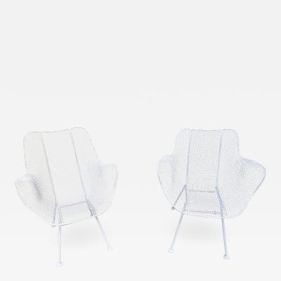 Woodard Furniture Pair of White Patio Chairs