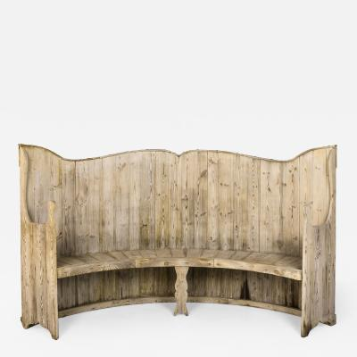 Wooden Bench Spain Late 19th Century