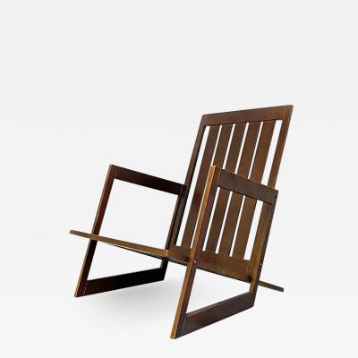 Wooden armchair 1980s