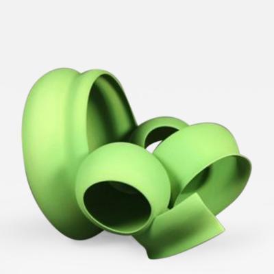 Wouter Dam Green Sculpture by Wouter Dam