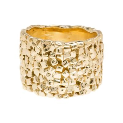 Woven 18k Yellow Gold Band Ring