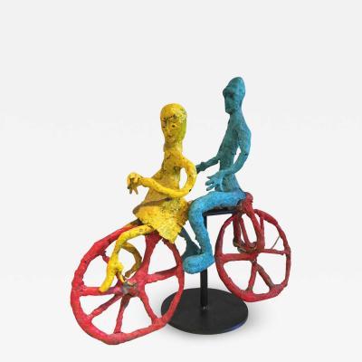 Wyona Diskin Wyona Diskin Couple Riding a Bicycle Large Sculpture