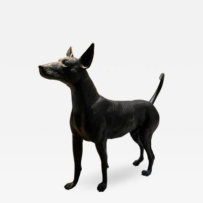 XOLO Hairless Dog Bronze Sculpture master sculptor Guillermo Castano Mexico 2008