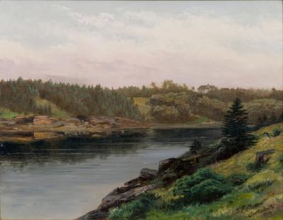 Xanthus Russell Smith Fresh Water Cove and Robin Hood Inn Bailey Island Maine