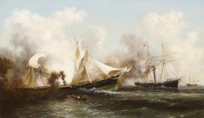 Xanthus Russell Smith U S S Kearsarge Sinking the Alabama