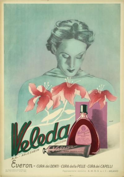 Xanti Italian Art Deco Period Toothpaste Mouthwash Poster by Xanti 1936