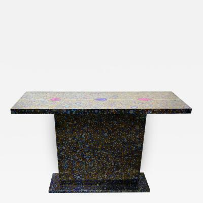 Xavier Mennessier Cosmos Console Table in Titanium by Xavier Mennessier