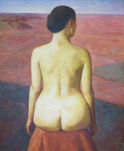 Xue Mo Seated Nude