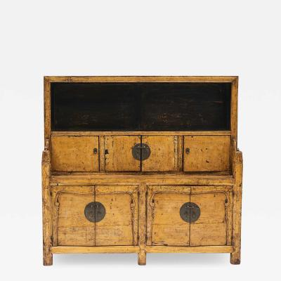 YELLOW LACQUER BREAKFRONT DRESSER