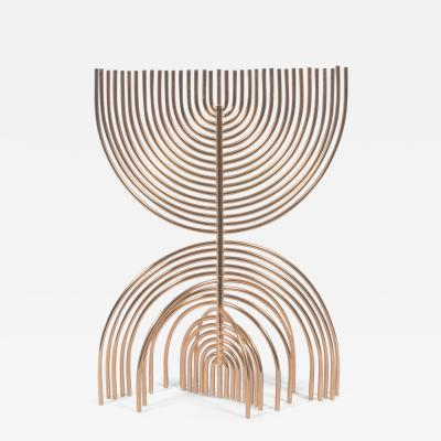 Yaacov Agam Menorah Yaakov Agam Kinetic Gold Plated Sculpture