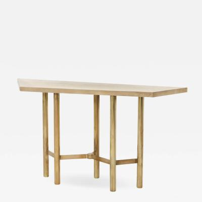 Yann Dessauvages Brass contemporary console table 2015