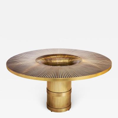 Yann Dessauvages The Vortex Dining Center Table by Yann Dessauvages