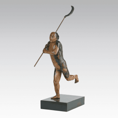 Yasumoto Kamchachi A Tattooed Sculpture of a Japanese Running Man c 1890