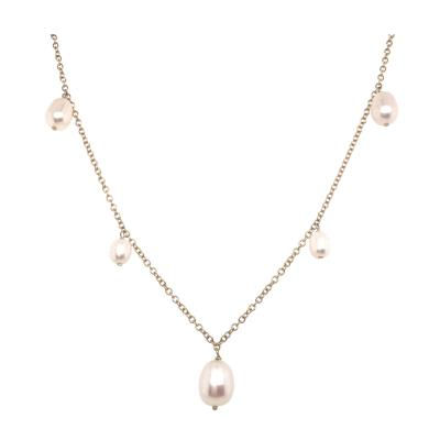 Yellow Gold 18k Chain and Natural Pearls Necklaces