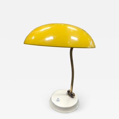 Yellow Midcentury Table Lamp Italy 1950s