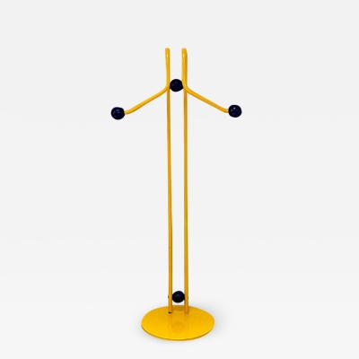 Yellow metal valet stand 1980s