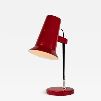 Yki Nummi 1950s Yki Nummi Red Table Lamp for Orno