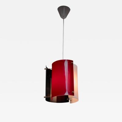 Yki Nummi Yki Nummi plexiglass pendant lamp for Orno Finland 1960s