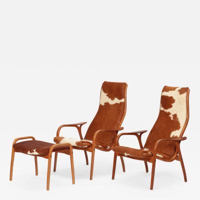 Yngve Ekstr m Yngve Ekstr m Lamino Lounge Chairs Ottoman Swedese 50s