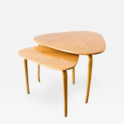 Yngve Ekstrom Pair of Yngve Ekstr m for DUX Nesting Tables