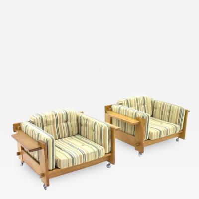 Yngve Ekstrom Rare Pair of Lounge Chairs by Yngve Ekstr m for Swedese Sweden 1960s
