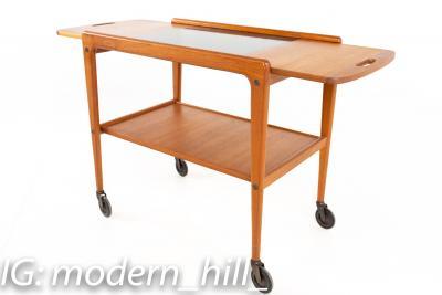 Yngve Ekstrom for Kellemo Danish Teak Drop Side Expanding Bar Cart