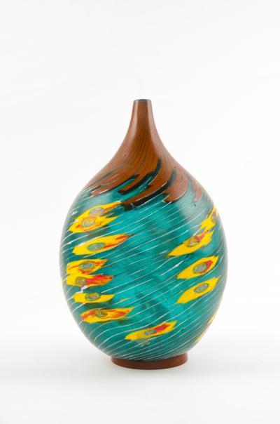 Yoichi Ohira Il Vento con Fiori Giallo Vase