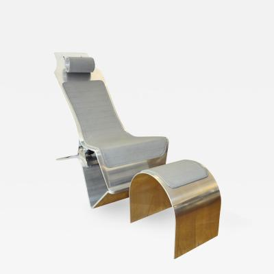 Yonel Lebovici Pince sans rire lounge chair and stool by Yonel LEBOVICI 1986