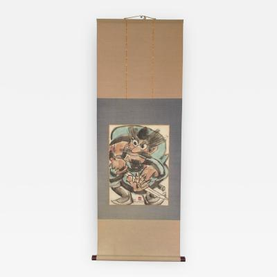 Yoshitoshi Mori Japanese Scroll Painting of Warrior by Yoshitoshi Mori