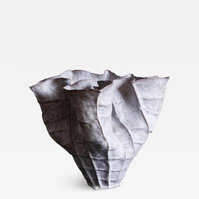 Young Mi Kim Large Undulating Stoneware Vessel by Ceramicist Young Mi Kim
