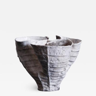 Young Mi Kim Pit fired Biomorphic Stoneware Vessel by Ceramicist Young Mi Kim