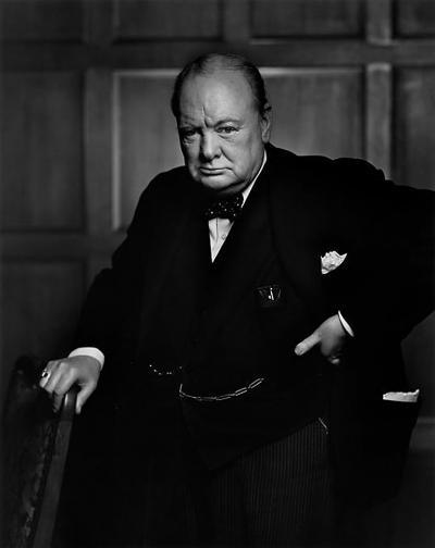 Yousuf Karsh Winston Churchill 1941 printed later