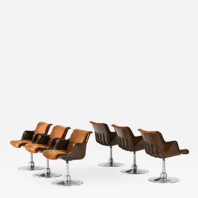 Yrjo Kukkapuro Dining Chairs Produced by Haimi