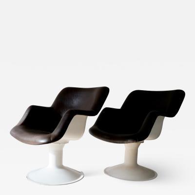 Yrjo Kukkapuro Pair of Mid Century Lounge Chairs by Yrj Kukkapuro for Haimi Finland
