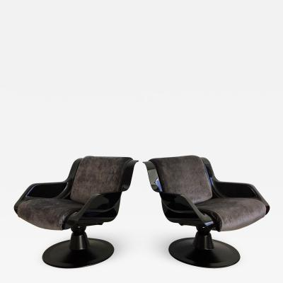 Yrjo Kukkapuro Pair of Yrjo Kukkapuro Swivel Lounge Chairs Model 3814 1KF