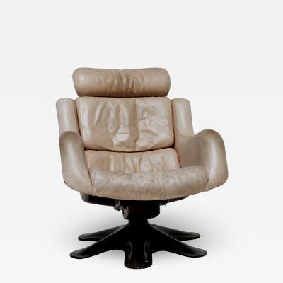 Yrjo Kukkapuro Swivel Chair by Yrj Kukkapuro Mod 418 for Haimi Finland 1970s