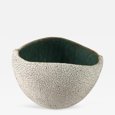 Yumiko Kuga White Crackle Glazed Bowl by Yumiko Kuga