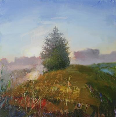 Yury Darashkevitch Observer Landscape with Tree