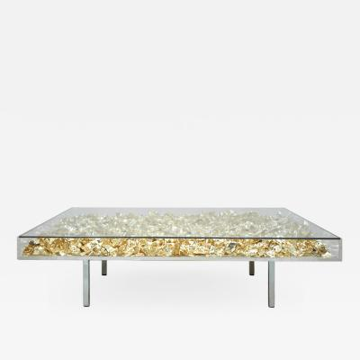 Yves klein Yves Klein Gold Monogold French Coffee Table