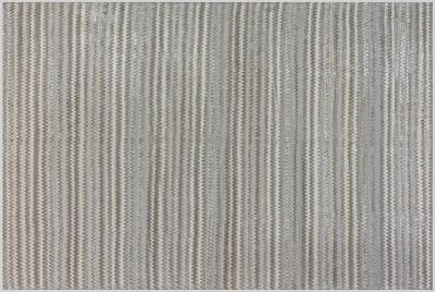 Zig Zag Design Beige Gray and Green Hand Knotted Bamboo Silk Rug